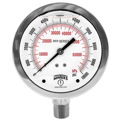 2.5''DIAL, SS STABILIZER PREMIUM, 0-160 PSI / KPA, 1 / 4''BACK