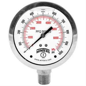 PFQ Stainless Steel Liquid Filled Gauge with SAE Connection