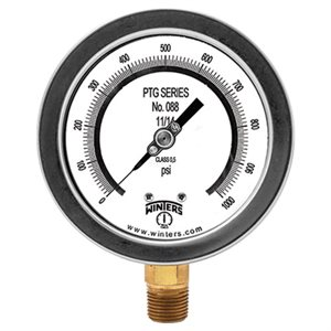 "4"" TEST GAUGE 0 / 15 PSI 1 / 4"" NPT BOTTOM"