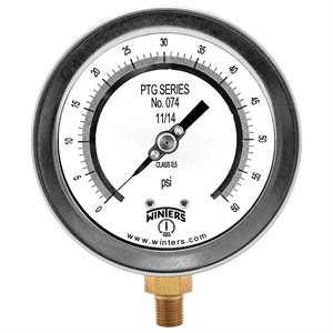 "4"" TEST GAUGE 0 / 60 PSI 1 / 4"" NPT BOTTOM"