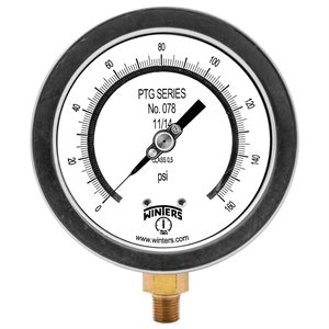 "4"" TEST GAUGE 0 / 160 PSI 1 / 4"" NPT BOTTOM"