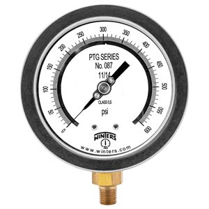 "4"" TEST GAUGE 0 / 600 PSI 1 / 4"" NPT BOTTOM"