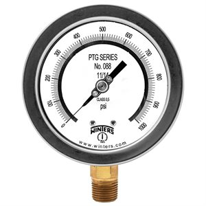 "4"" TEST GAUGE 0 / 1000 PSI 1 / 2"" NPT BOTTOM"
