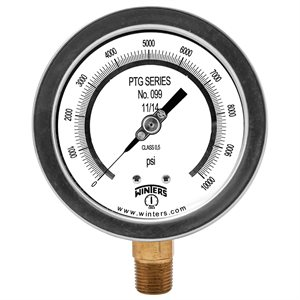 "4"" TEST GAUGE 0 / 10000 PSI 1 / 2"" NPT BTM"