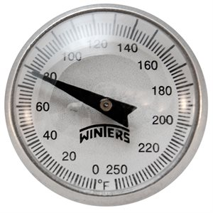 "0 / 250 F ONLY ""PT"" POCKET THERMOMETER"