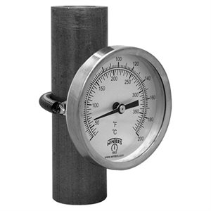 Clamp-On Thermometer Metallic n / a Steel 2.5'' -40 / 110 F / C n / a Centre Back No Socket Clamp-On