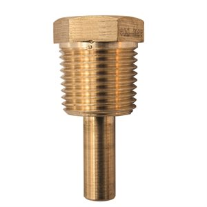 TSW (LEAD-FREE) BRASS THERMOWELL 1 / 2'' NPT FOR TSW174